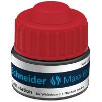 Stacja uzupełniająca SCHNEIDER Maxx 665, 30ml, czerwony, Markery, Artykuły do pisania i korygowania