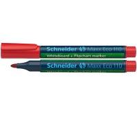 Marker do tablic SCHNEIDER Maxx Eco 110, okrągły, 1-3mm, czerwony, Markery, Artykuły do pisania i korygowania