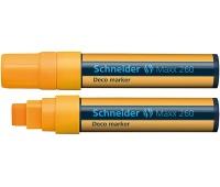 Marker kredowy SCHNEIDER Maxx 260 Deco, 5-15mm, pomarańczowy, Markery, Artykuły do pisania i korygowania