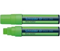 Marker kredowy SCHNEIDER Maxx 260 Deco, 5-15mm, jasnozielony, Markery, Artykuły do pisania i korygowania