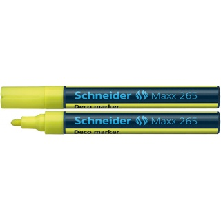 Marker kredowy SCHNEIDER Maxx 265 Deco, okrągły, 2-3mm, żółty, Markery, Artykuły do pisania i korygowania
