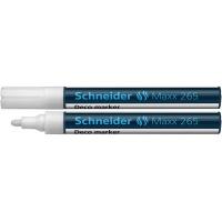 Marker kredowy SCHNEIDER Maxx 265 Deco, okrągły, 2-3mm, biały, Markery, Artykuły do pisania i korygowania