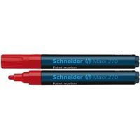 Marker olejowy SCHNEIDER Maxx 270, okrągły, 1-3mm, czerwony, Markery, Artykuły do pisania i korygowania