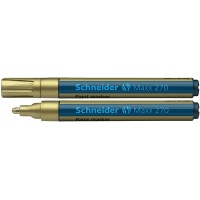 Marker olejowy SCHNEIDER Maxx 270, okrągły, 1-3mm, złoty, Markery, Artykuły do pisania i korygowania