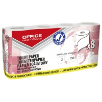 Toilet paper cellulose OFFICE PRODUCTS,  2-ply,  150 sheets,  15m,  8pcs.,  white