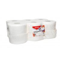 Papier toaletowy celulozowy OFFICE PRODUCTS Jumbo, 2-warstwowy, 120m, 12szt., biały, Papiery toaletowe i dozowniki, Artykuły higieniczne i dozowniki