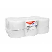 Papier toaletowy makulaturowy OFFICE PRODUCTS Jumbo, 1-warstwowy, 120m, 12szt., biały, Papiery toaletowe i dozowniki, Artykuły higieniczne i dozowniki