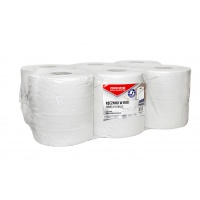 Towels made of recycled paper, in the roll, OFFICE PRODUCTS Maxi, 2-ply, 120 m, 6 pcs, white