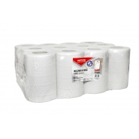 Towels made from recycled paper, in the roll, OFFICE PRODUCTS Mini, 2-ply, 50 m, 12 pcs, white