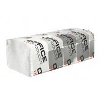 Ręczniki składane ZZ makulaturowe ekonomiczne OFFICE PRODUCTS, 1-warstwowe, 4000 listków, 20szt., białe, Ręczniki papierowe i dozowniki, Artykuły higieniczne i dozowniki