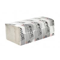 Ręczniki składane ZZ makulaturowe ekonomiczne OFFICE PRODUCTS, 1-warstwowe, 4000 listków, 20szt., szare, Ręczniki papierowe i dozowniki, Artykuły higieniczne i dozowniki