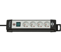 Power Strip BRENNERSTUHL Premium, 6 sockets, clip, 3 m, with a switch, black