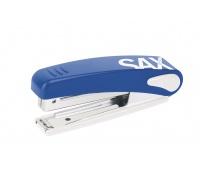 Zszywacz SAXDesign 219, zszywa do 10 kartek, zintegrowany rozszywacz, niebieski, Zszywacze, Drobne akcesoria biurowe