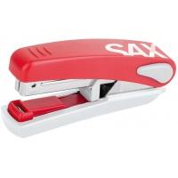 Zszywacz SAXDesign 519, zszywa do 20 kartek, na płasko, zintegrowany rozszywacz, czerwony, Zszywacze, Drobne akcesoria biurowe
