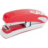 Zszywacz SAXDesign 539, zszywa do 30 kartek, na płasko, czerwony, Zszywacze, Drobne akcesoria biurowe