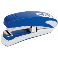 Zszywacz SAXDesign 539, zszywa do 30 kartek, na płasko, niebieski, Zszywacze, Drobne akcesoria biurowe