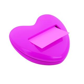 Podajnik do karteczek POST-IT® (HD-330) w kszałcie serca, różowy, Promocje PBS, ~nagrody
