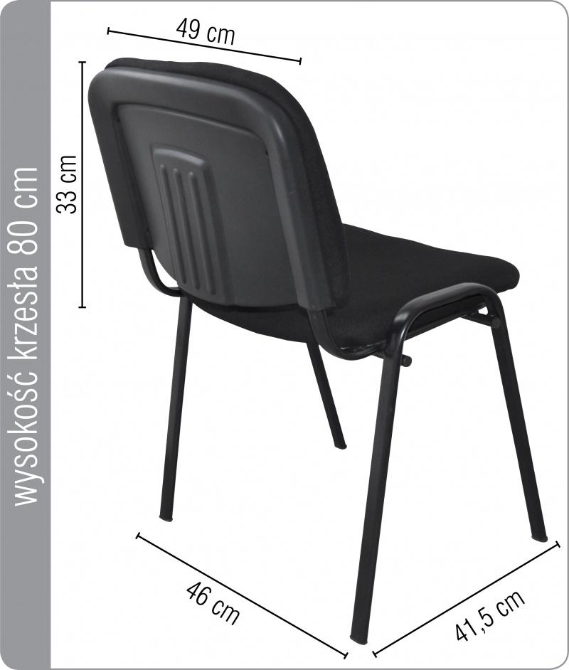 Chaise de conférence, Kos, PRODUITS DE BUREAU, noir