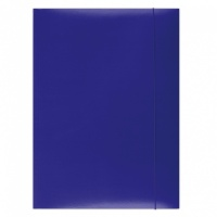 Elasticated File, OFFICE PRODUCTS, cardboard/lacquered, A4, 350 gsm, 3 flaps, blue