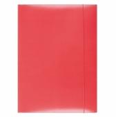 Teczka z gumką OFFICE PRODUCTS, karton/lakier, A4, 350gsm, 3-skrz., czerwona, Teczki płaskie, Archiwizacja dokumentów