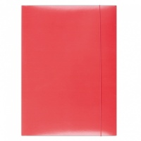 Elasticated File, OFFICE PRODUCTS, cardboard/lacquered, A4, 350 gsm, 3 flaps,red