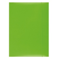 Elasticated File, OFFICE PRODUCTS, cardboard/lacquered, A4, 350 gsm, 3 flaps, green