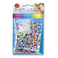 Gumki RUBBER LOOPS, świecące w ciemności, 500szt., mix kolorów, Produkty kreatywne, Szkoła 2015