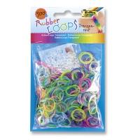 Gumki RUBBER LOOPS, transparentne, 500szt., mix kolorów, Produkty kreatywne, Szkoła 2015