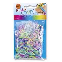 Gumki RUBBER LOOPS, dwukolorowe, 500szt., mix kolorów, Produkty kreatywne, Szkoła 2015