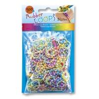 Gumki RUBBER LOOPS, kolorowe kwiaty, 500szt., mix kolorów, Produkty kreatywne, Szkoła 2015
