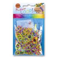 Gumki RUBBER LOOPS, kolorowe paski, 500szt., mix kolorów, Produkty kreatywne, Szkoła 2015
