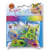 Gumki RUBBER LOOPS Noppen, węzełek, 100szt., mix kolorów, Produkty kreatywne, Szkoła 2015