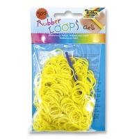 Gumki RUBBER LOOPS, 500szt., żółte, Produkty kreatywne, Szkoła 2015