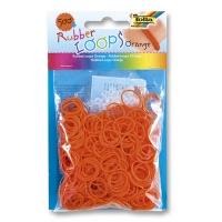 Gumki RUBBER LOOPS, 500szt., pomarańczowe, Produkty kreatywne, Szkoła 2015
