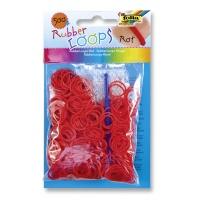 Gumki RUBBER LOOPS, 500szt., czerwone, Produkty kreatywne, Szkoła 2015