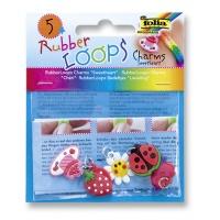 Charmsy RUBBER LOOPS SWEETHEART, 5szt., mix kolorów, Produkty kreatywne, Szkoła 2015
