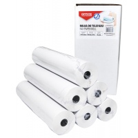 Fax roll, OFFICE PRODUCTS, 216mm x 30m x 0.5'', 6 rolls
