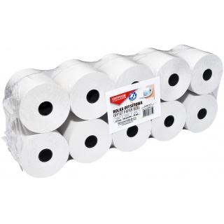 Rolka offsetowa OFFICE PRODUCTS, 57mmX30m, 10 rolek, Papiery specjalne, Papier i etykiety