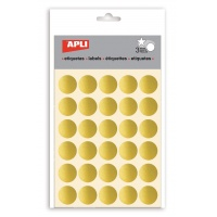 Naklejki APLI, koła, 90 szt., złote, Produkty kreatywne, Szkoła 2015