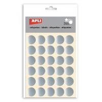 Naklejki APLI, koła, 90 szt., srebrne, Produkty kreatywne, Szkoła 2015