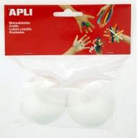 Kula styropianowa APLI, średnica 60mm, 2 szt., biała, Produkty kreatywne, Szkoła 2015