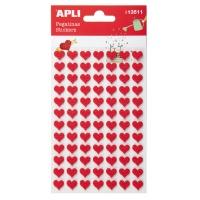 Naklejki APLI, filc, serca, 84 szt., czerwone, Produkty kreatywne, Szkoła 2015
