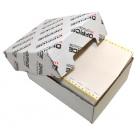 Computer paper, self copy, continuous feed, OFFICE PRODUCTS, 240X12''X4, with overprint O/K, 400 sheets