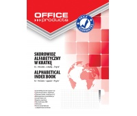 Index Book OFFICE PRODUCTS, A5, square ruled, A-Z index, durable cover, 96sheets, 70gsm