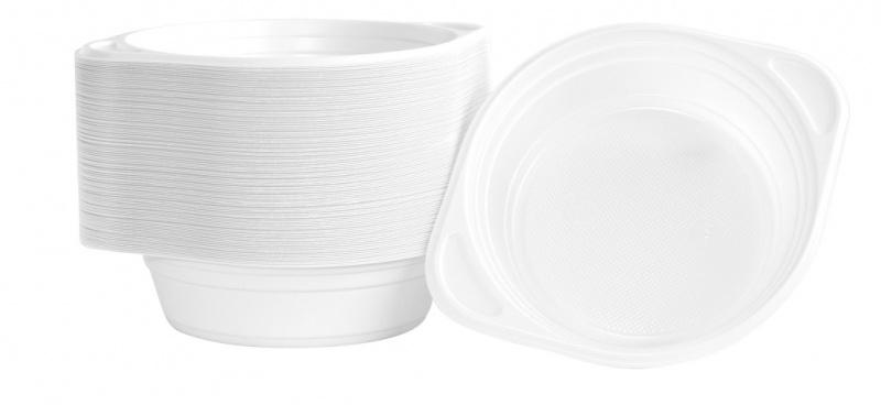 Flaczarka plastikowa OFFICE PRODUCTS, 500ml, śr. 16cm, 100 szt., biała, Naczynia jednorazowe i serwetki, Artykuły higieniczne i dozowniki