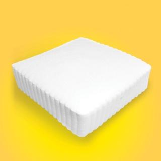 Serwetki papierowe OFFICE PRODUCTS, ząbkowane, 17x17cm, 1-warst., 400 szt., białe, Naczynia jednorazowe i serwetki, Artykuły higieniczne i dozowniki