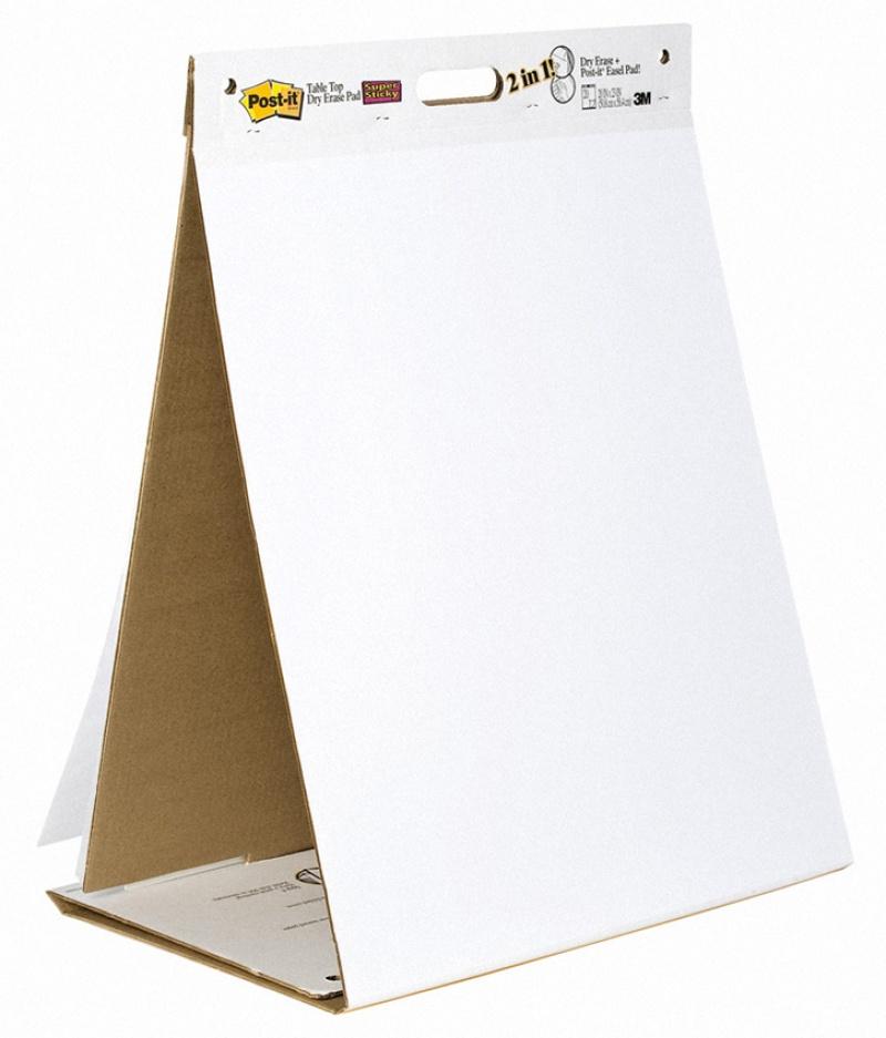 blok flipchart, papier flipchart, arkusze konferencyjne, papier samoprzylepny, blok samoprzylepny, post-it, post it, postit, super sticky, blok papierowy, biały, gładki, 563DE, wolnostojący, spotkanie, poza biurem