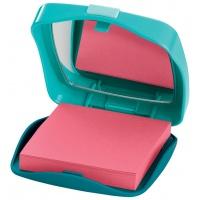 Podajnik do bloczków samop. Post-it® w kszałcie puderniczki (CTP330) 1 bloczek GRATIS, Bloczki samoprzylepne, Papier i etykiety