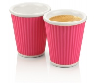 Porcelain mug, CEP, Take a break, 100ml, 2 pcs, pink
