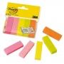 Znaczniki POST-IT® (670/5), papier, 15x50mm, 5x100 kart., mix kolorów neonowy, Bloczki samoprzylepne, Papier i etykiety